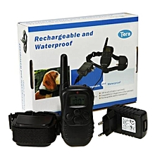 Waterproof Rechargeable Wireless Dog Training Collar Within 300 Meters - Black