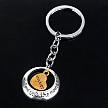 Silver Family Mom Daughter Sister Dad Heart Key Ring Chain Keyring Keychain Gift