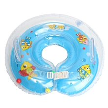 Inflatable Float Ring Baby Infant Swimming Neck Safety Aids Bath Swimming Beach Blue