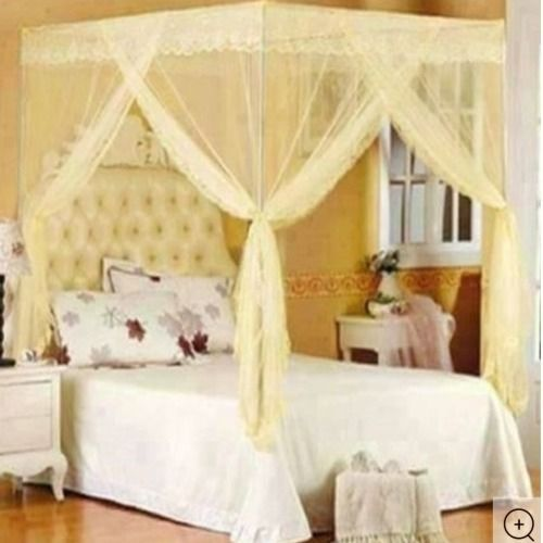 Cream Mosquito Net With Stand