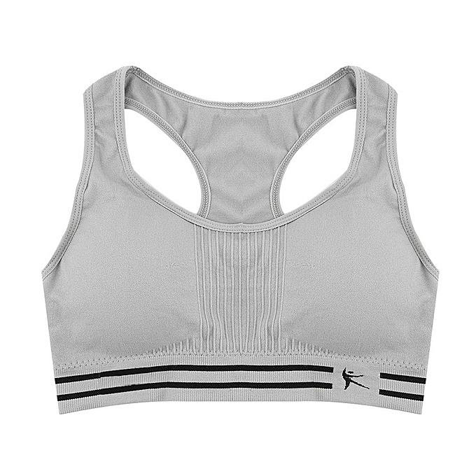5716d4cd04 UJ Women Seamless Racerback Sports Bra Top Yoga Fitness Padded Stretch  Workout Grey
