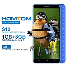 "Homtom S12 3G 5.0"" (1GB, 8GB ROM), Android 6.0 - BLUE"