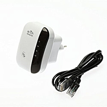 Wifi Repeater 300M Range Extender - Black And White