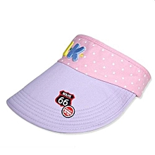 Children Hat Empty Hat Baby Hat Cute Children Sun Hat (purple)
