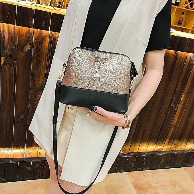 fc17ef64e844a6 Xiuxingzi Womens Leather Crossbody Bag Sequins Small Deer Shoulder Bags  Messenger Bag ...