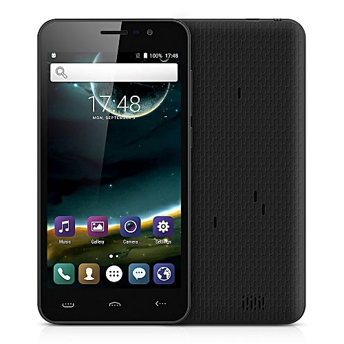 Homtom HT16 5.0 inch 3G Smartphone Android 6.0 MTK6580 Quad Core 1.3GHz 1GB RAM 8GB ROM Wakeup Gesture GPS A-GPS Bluetooth 4.0 - BLACK
