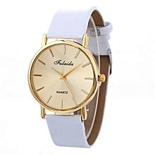 Lady  Leather Wrist Watch Fulaida  Women Wind Quartz Quality Watch Leather Strap Belt Table Watch WH-White