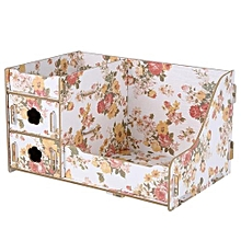 Wood Storage Box Desk Stationery Makeup Cosmetic Organizer Case Holder Decor