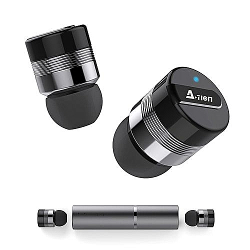 (Colour:Gray) Stereo Bluetooth Headphones, True Wireless Earbuds W/ Mic.