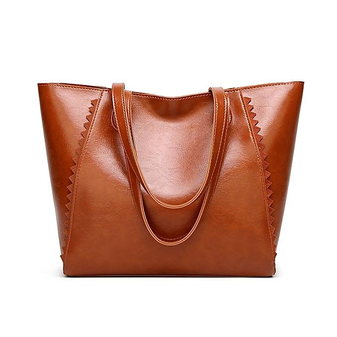 Fashion Women Simple Casual Pu Leather Tote Bag Handbag   Best Price ... 323eec025