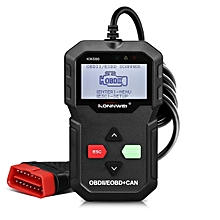 OBD II Code Reader KONNWEI KW590 OBD2 Car Diagnostic Scanner with Multi-languages Full OBD EOBD Functions  - Black
