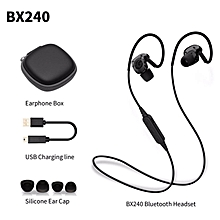 LEBAIQI BX240 Wireless Sports Headphones Bluetooth 4.1 In-Ear Earphone IPX5 Waterproof Music Stereo Headset With Mic For Phone (Black)