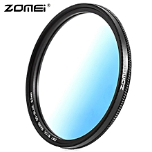 GC - SLIM 62mm Graduated Color Filter For Nikon DSLR Cameras Lens - Blue