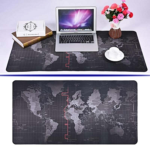 Generic New World Map Pattern Non Slip Mouse Pad Gaming Mat With