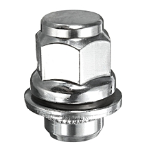 OE Mag Style Lug Nuts With Washer - 12x1.25 - For Nissan Infiniti (Chrome)