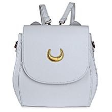 Guapabien Sweet Women Moon Rivet Embellishment Tote Handbag Shoulder Messenger Bag Backpack