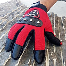 Africanmall store Men Outdoor Sports Bike Bicycle Windproof Slip Full Finger Gloves Mittens RD-Red