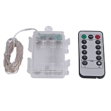 5m 50 LED Silver Wire String Light Lamp 3AA Battery Box With Remote Control