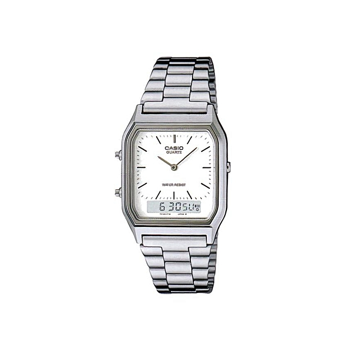 397d3c9f950c CASIO Classic Vintage Series Analog-Digital White Dial Men s Watch ...