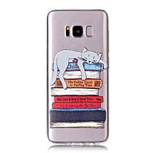 Samsung S6/S6 Edge/S7/S7 Edge/S8/S8 Plus/A32017/A52017 Phone Cover Cat Pattern Case____SAMSUNG S6____transparent
