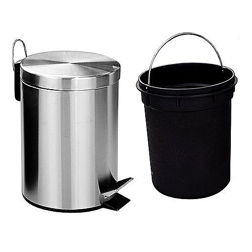 Stainless Steel Step Trash Bin 12 Litres