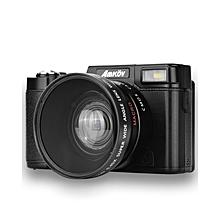 Digital Camera Video Camcorder 3 Inch 0.45X - Black