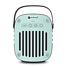 NewRixing NR - 4014 Portable Wireless Bluetooth Stereo Speaker Mini Player-LIGHT AQUAMARINE