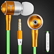 Q12 Luminous Wire In-ear Earphone For IPhone 6 / 6 Plus(WHITE)