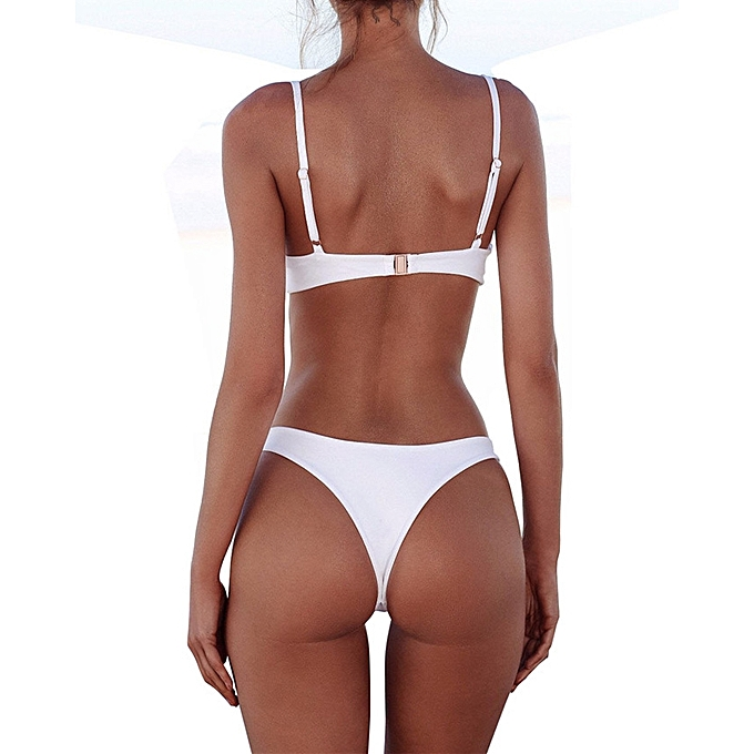 f77c846f4fbda ... New White Color Micro Bikini Set Women Swimsuit 6-14 Size Sexy Thong  Bikini Low ...