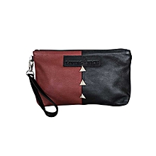 Maroon / Black Cosmetic Bag