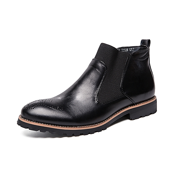 EUR Size 38-46 Men Chelsea Boots Ankle Boots Fashion High Quality England  Men s Leather 680e62bdfa