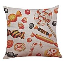 Happy Halloween Linen Throw Pillow Case Cushion Cover Home Sofa Decor New J