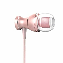 Professional Earphone With Microphone 3.5mm Standard Stereo Unisex HD Sound Rose Gold
