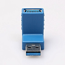 Vertical Angled USB 3.0 Male To Female Bent Plastic Copper Adapter Connector