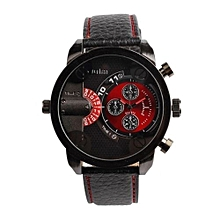 5cm Oversized Dial For Big Wrist Design Brand 3130 Mens Leather Watches Montre Homme Marque Male Relogio Masculino (Red&Black)