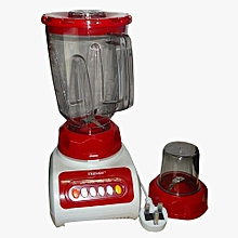 Blender with Grinder - 1.5 Litres - 350w - Red & White