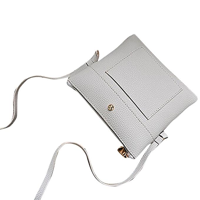 5059436fe2 Africanmall store Women Leather Tassels Handbag Shoulder Crossbody Messenger  Phone Coin Bag F-Gray