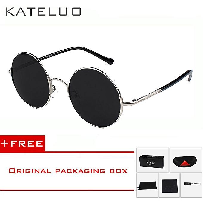 0822f9ced8 KATELUO Round Sunglasses Unisex Retro Polarized Lens Driver Men Women  Vintage Sun Glasses Outdoor Fashion