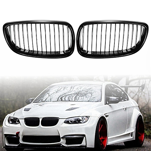 1 Pair Front Left & Right Side Car Grilles Grills For BMW E92 E93 3-Series  2007-2010 Coupe/Convertible Gloss Black