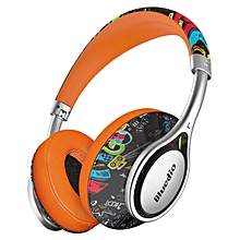 Bluedio A2 Over-ear Type-c AUX NICAM Sound High Fidelity V4.2 Bluetooth Headphone With Mic Graffiti
