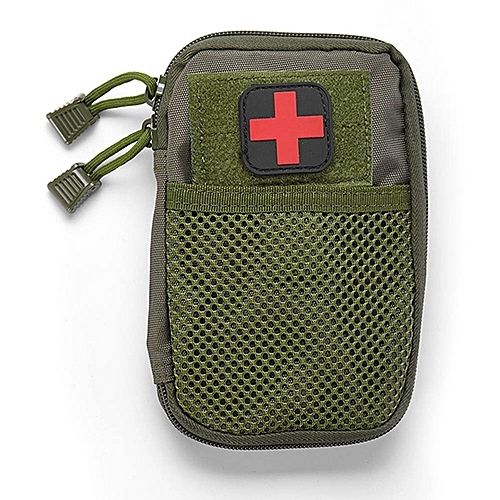 Portable Military First Aid Kit Empty Bag Out Bag Water Resistant For  Hiking Travel Home Car Emergency Treatment(#AG)