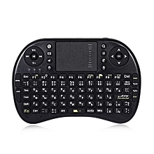Backlit Mini Keyboard Handheld Touch pad Mouse  92 Keys - Black