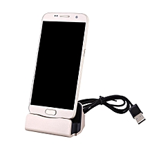 Desktop Charging Dock Charger Station Stand For Type-C Smartphone Gold