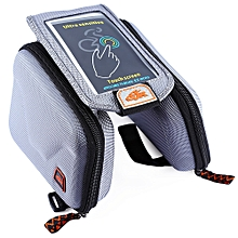 CBR B2 - 2 EVA Outdoor Portable Front Beam Bag Touch Screen Pouch for Bicycle Bike Cycling Gray