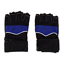 Tectores Outdoor Sport Gym Workout Weight Lifting Training Fingerless Gloves Blue