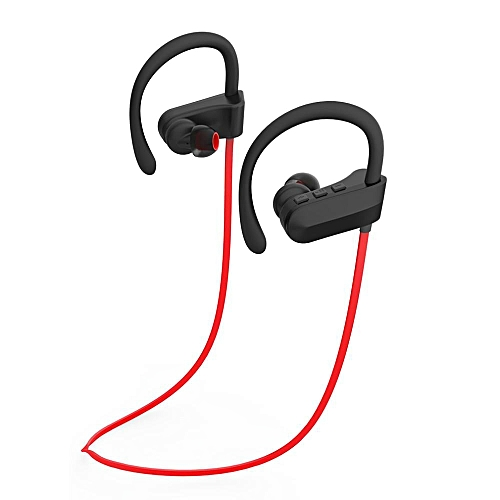 Wireless Bluetooth headphone, Shuua Q12 Hanging Ear Music Stereo Bluetooth Sports Headset(Red)