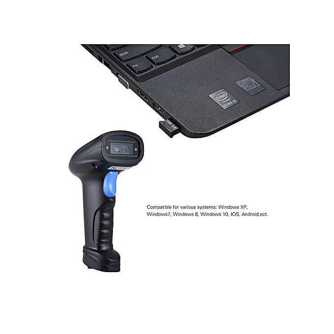 BT Handheld Wireless 1D/2D/QR Barcode Scanner Bar Code Reader With USB  Receiver 2100 Code Storage Capacity For POS PC Android IOS