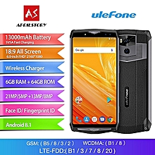 Power 5 6-inch (6GB, 64GB ROM) 13000mAh, 21MP+13MP, Android 8.1, Dual Sim 4G LTE Smartphone - Black