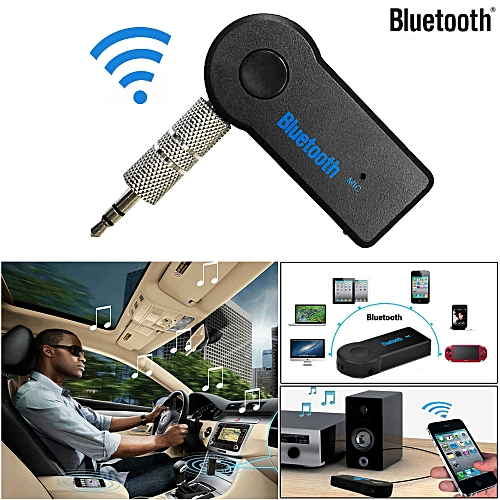 AfricanmallDN store  Wireless Bluetooth 3.5mm AUX Audio Stereo Music Home Car Receiver Adapter Mic -Black