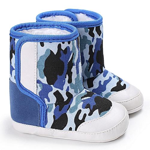 ad07b932b359b Neworldline Camouflage Baby Soft Sole Snow Boots Soft Crib Shoes Toddler  Boots - Dark Blue